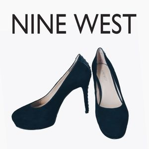 NEW NINE WEST LEATHER SUEDE PLATFORM HEELS